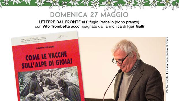 LETTERE DAL FRONTE con il poeta Vito Trombetta – 27 maggio 2018